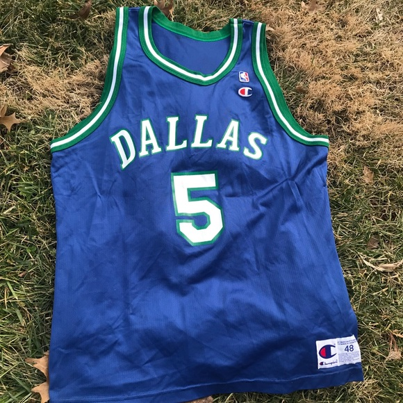 competitive price 90424 243ad Vtg Champion Jason Kidd jersey Dallas Mavericks
